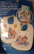 Sweethearts Two Quilted Toddler Bibs for Stamped Embroidery or Ballpoint Painting