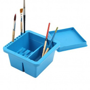 Artist Brush Washer Cleaner Bath Holder Mont Marte Twin Compartment Painting Lid, Plastic