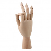 """Durable Wooden 20cm """" Jointed Manikin Mannequin Model Right Hand for Art Drawing"""