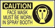 Caution Face Mask Must Be Worn In Spray Booth Sticker