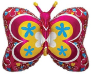 Deco Butterfly Shaped 70cm Foil Balloon