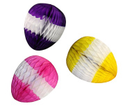 3-pack Honeycomb Tissue Paper Easter Egg Decorations (Multi-Pack