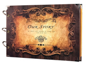 Newcreativetop Scrapbook Rectangle Our Story Scrapbook Album Anniversary Vintage Scrapbook Recording Valentines Day Gifts Christmas Gift