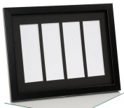CreativePF- [pbw9x11bk-b] Black Wedding Photo Booth Frame - Holds 4- 2x6 with Black Mat to Display, Cherish and Preserve your Wedding Memories
