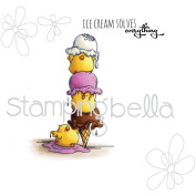 Stamping Bella Cling Stamp 17cm x 11cm -Chicks With A Sprinkle On Top