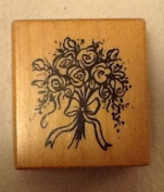 PSX Bouquet of Roses Wood Mounted Rubber Stamp - C-3289