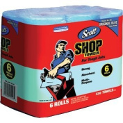 Scotts Kimberly Clark 75146 Blue Shop Towels On A Roll Bundle, 6 Pack