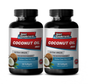 Coconut Oil Fractionated Organic - Extra Virgin Coconut Oil 3,000mg - Coconut Oil for Healthy Skin, Hair and Nails