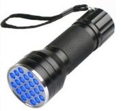 UV Ultra Violet 21 LED Flashlight Mini Blacklight Aluminium Torch Light Lamp