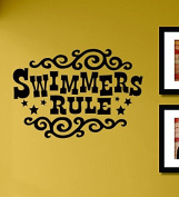 Swimmers Rule Vinyl Wall Decals Quotes Sayings Words Art Decor Lettering Vinyl Wall Art Inspirational Uplifting