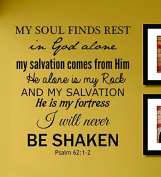 My Soul Finds Rest in God Alone... Vinyl Wall Decals Quotes Sayings Words Art Decor Lettering Vinyl Wall Art Inspirational Uplifting