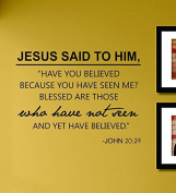 Jesus Said to Him... Vinyl Wall Decals Quotes Sayings Words Art Decor Lettering Vinyl Wall Art Inspirational Uplifting
