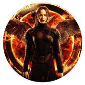 The Hunger Games Mockingjay Katniss Edible Image Photo Sugar Frosting Icing Cake Topper Sheet Birthday Party - 20cm ROUND - 75362