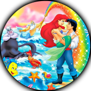 The Little Mermaid Ariel Image Photo Sugar Frosting Icing Cake Topper Sheet Birthday Party - 20cm Round - 75720