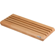 Artelegno Solid Beech Wood Dual Sided Bread Board with Crumb Troughs and Cutting Board, Luxurious Italian Siena Collection by Master Craftsmen, Eco-friendly Way to Slice Bread--Natural Finish, Narrow