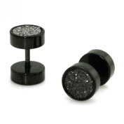 Stainless Steel Silver Glitter Fake Cheater Plugs