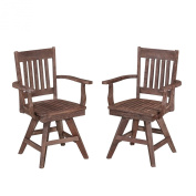 Home Styles 5601-812 Morocco Indoor and Outdoor Dining Swivel Chair Pair