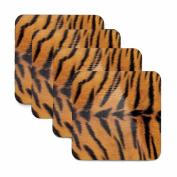 Tiger Print Coasters - Set of Four
