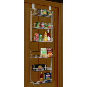 Over the Door Storage Rack Organiser Kitchen Pantry Basket Spice 6 Shelfม Can Be Mounted to a Wall or Hung Over the Inside of Just About Any Door