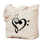CafePress Tote Bag - Treble Heart Tote Bag