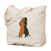 CafePress Tote Bag - Dancing Dachshunds Tote Bag