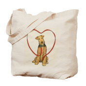 CafePress Tote Bag - Love Your Airedale Tote Bag
