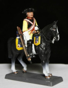 Mounted Prussian Cuirassier circa 1758 Seven years war Toy Soldier 54mm Metal