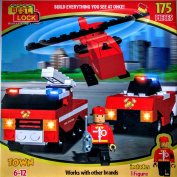 MazaaShop Best Lock Building Blocks - Build Everything You See At Once Includes & 1 Toy Figure, 175 Pieces