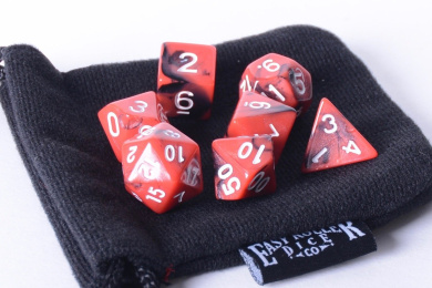 Fireball Polyhedral Dice Set   7 Piece   PRISTINE Edition   FREE Carrying Bag   Hand Checked Quality.