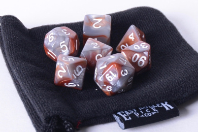 Qwartz Swirl Polyhedral Dice Set | 7 Piece | PRISTINE Edition | FREE Carrying Bag | Hand Checked Quality.
