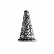 Silver Overlay Cone CSF-194 19X10MM