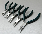 5 Pc jewellers PLIERS SET jewellery MAKING BEADING WIRE WRAPPING HOBBY 13cm PLIER KIT