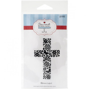 Gourmet Rubber Stamps Cling Easter Cross Stamps, 8.3cm x 17cm
