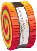 Christa Watson Kona Cotton Solids Designer Palette Series Roll Up 40 6.4cm Strips Jelly Roll Robert Kaufman Fabrics RU-485-40