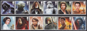 STAR WARS The Force Awakens Mint Stamps Set Royal Mail Collectible Postage Stamps