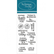 Technique Tuesday Clear Stamps 5.1cm x 10cm -Planner - Thanks