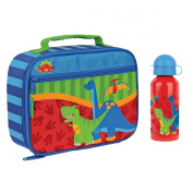 Stephen Joseph Dinosaur Lunch Box and Stainless Steel Water Bottle for Kids