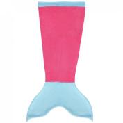 YiZYiF Luxury Mermaid Tail Blanket Soft Cosy Fleece Cos Custom For Children Teen Hot Pink Blue Large