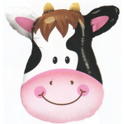PIONEER BALLOON COMPANY 16455 Contented Cow Shape Balloon Pack, 80cm