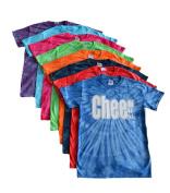 """Cheerleading Tie Dye T-Shirt- """"Cheer"""" White Logo"""