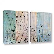 ArtWall Cora Niele's Dark Silhouette II 2 Piece Gallery Wrapped Canvas Set, 80cm by 120cm