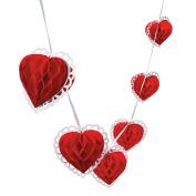 Fun Express Tissue Paper Valentine Heart Garland Novelty
