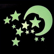 12 Pcs Wall Stickers Home Decor Glow In The Dark Star Moon Stickers Decal Baby Kids Gift Nursery Room Luminous