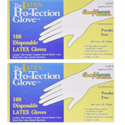Comfitwear Disposable Latex Gloves, Powder Free Size Large, 200 Gloves
