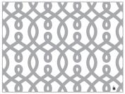 di Potter CH116 Vienna Pattern Reversible Paper Placemat, Metallic Silver, 30cm x 41cm - 0.6cm