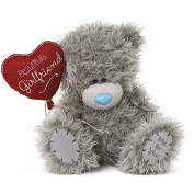 Me To You Tatty Teddy Plush - 'Beautiful Girlfriend' holding Heart Balloon - 20cm sitting