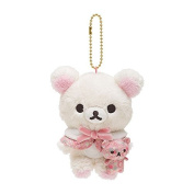 San-X Hanging Stuffed Animal Plush Strawberry Flower Korilakkuma