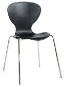 Blue Box Sienna Plastic Chair - Black