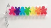 7 Mini Gingerbread Rainbow Soaps Gift Pack - Christmas Stocking Filler
