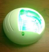 MARINE BOAT VERTICAL MOUNT GREEN STARBOARD LED NAVIGATION LIGHT 2NM